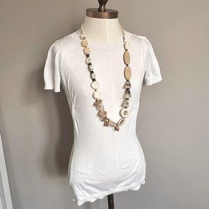 Prada Knit Cotton Short Sleeve Technical T-Shirt S